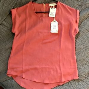 NWT Pink Rose Blouse